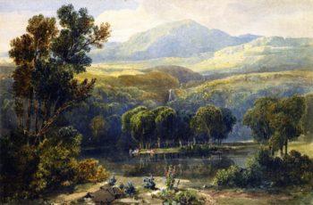 Lake Scene North Wales | David Cox | oil painting