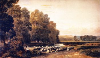 Lugg Meadows near Hereford | David Cox | oil painting
