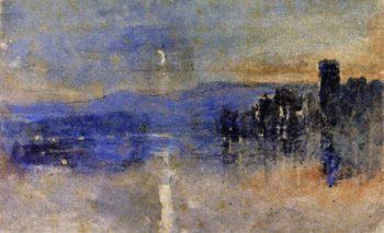 Moonlight Landscape | David Cox | oil painting
