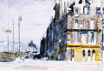 Near the Pont d'Arcole Paris | David Cox | oil painting
