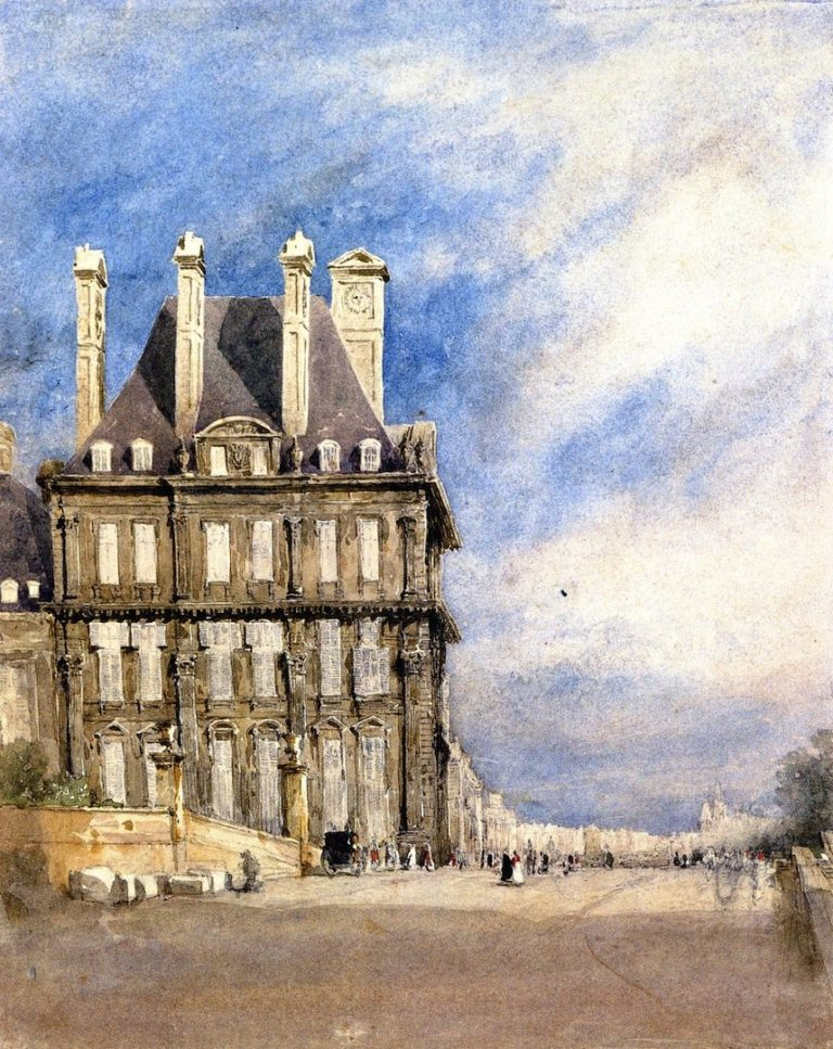 Pavillon de Flore Tuileries Paris | David Cox | oil painting