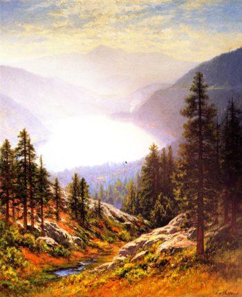 Donner Lake | Raymond Dabb Yelland | oil painting