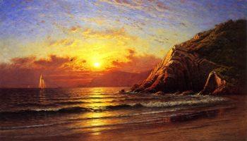 Golden Gate from Angel Island | Raymond Dabb Yelland | oil painting