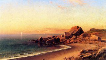 On the California Coast | Raymond Dabb Yelland | oil painting