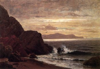 Point Lobos from Fort Point | Raymond Dabb Yelland | oil painting
