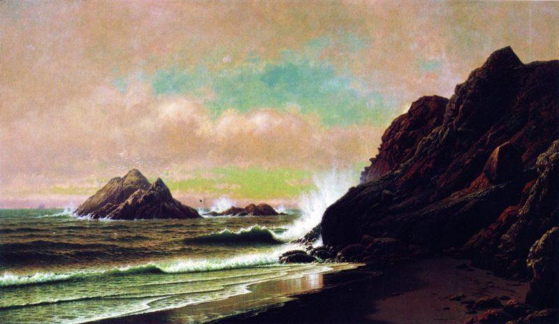 Seal Rocks from Under the Cliffs San Francisco California | Raymond Dabb Yelland | oil painting