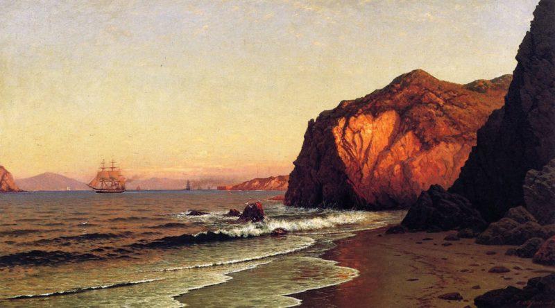 The Golden Gate   Raymond Dabb Yelland   oil painting