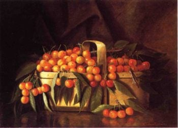 A Basket of Cherries | Richard LaBarre Goodwin | oil painting