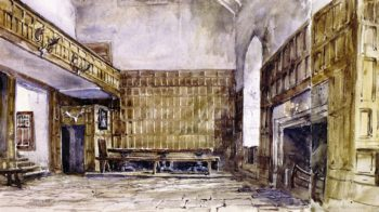 The Great Hall Haddon | David Cox | oil painting
