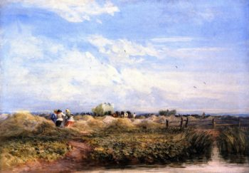 The Hayfield | David Cox | oil painting