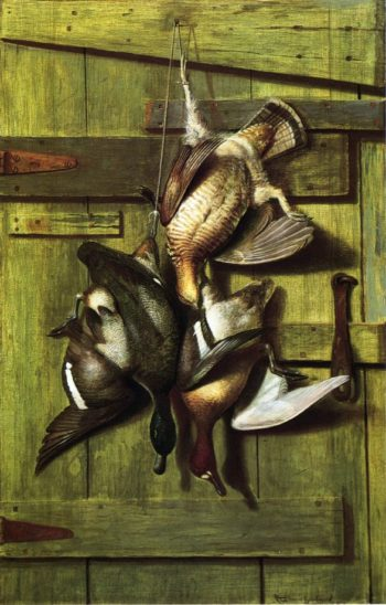 Game Hanging on a Cabin Door | Richard LaBarre Goodwin | oil painting