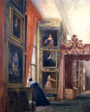 The Long Gallery Hardwick Hall Derbyshire 1 | David Cox | oil painting