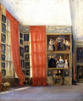 The Long Gallery Hardwick Hall Derbyshire 2 | David Cox | oil painting