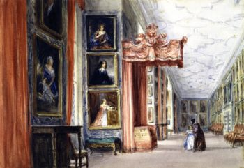 The Long Gallery Hardwick Hall Derbyshire | David Cox | oil painting