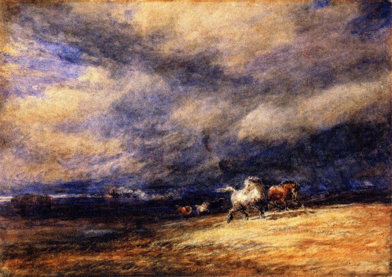 The Night Train   David Cox   oil painting