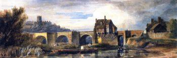 The Old Bridge at Bridgnorth Shropshire | David Cox | oil painting