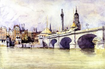 The Opening of the New London Bridge | David Cox | oil painting