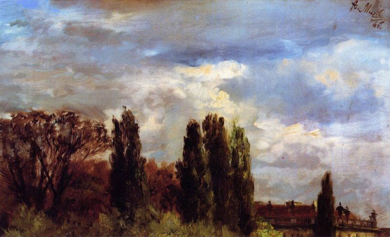 View over Prince Albert's Palace Park | Adolph von Menzel | oil painting