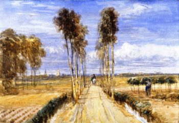 The Poplar Avenue after Hobbema | David Cox | oil painting