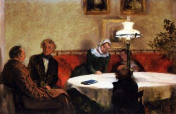 An Evening Together | Adolph von Menzel | oil painting