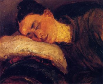 Woman Sleeping | Adolph von Menzel | oil painting