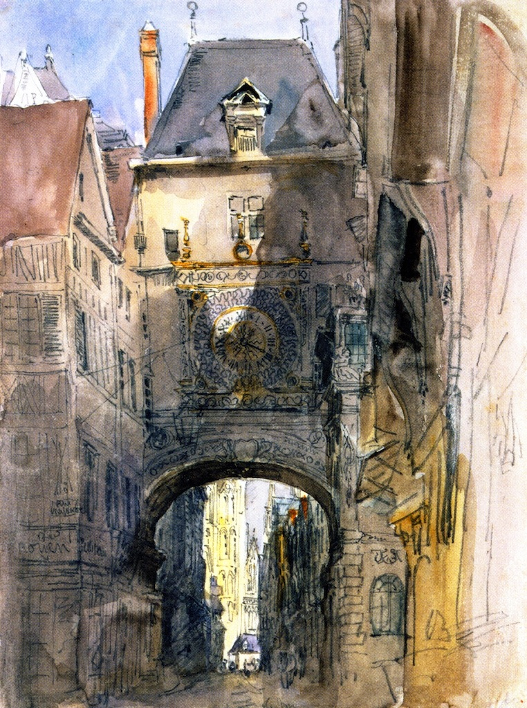 Tour d'Horloge Rouen | David Cox | oil painting