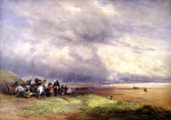 Ulverston Sands | David Cox | oil painting