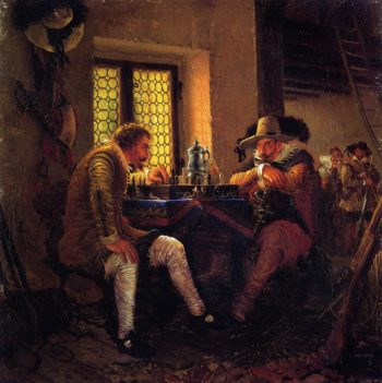 The Game of Chess | Adolph von Menzel | oil painting
