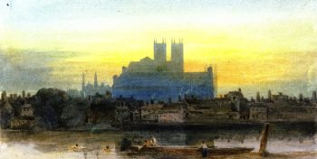 Westminster from Lambeth | David Cox | oil painting