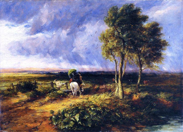 Wind Rain and Sunshine   David Cox   oil painting