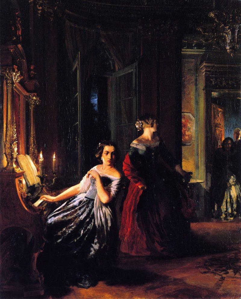 The Interruption | Adolph von Menzel | oil painting