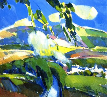 A Puff of Smoke near Milngavie | John Duncan Fergusson | oil painting