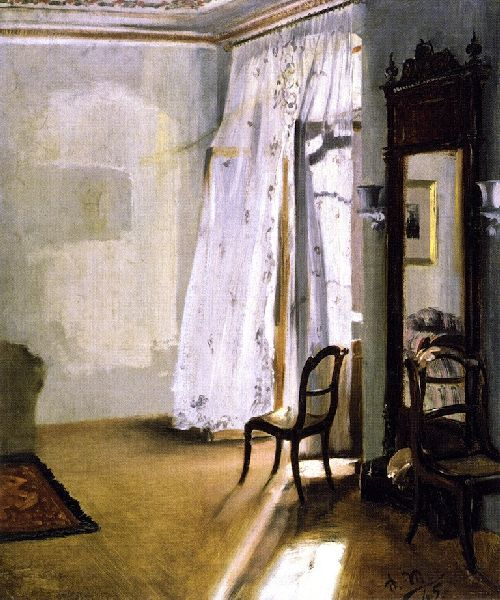 Balcony Room | Adolph von Menzel | oil painting