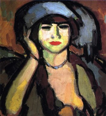 Blue Beads Paris | John Duncan Fergusson | oil painting