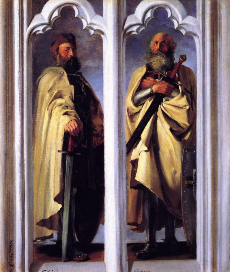 The Grand Masters Siegfried von Feuchtwangen and Ludger von Braunschweig   Adolph von Menzel   oil painting
