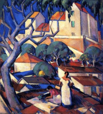 Christmas Time in the South of France | John Duncan Fergusson | oil painting