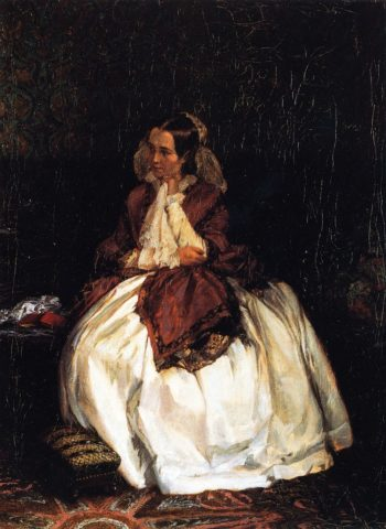 Portrait of Mrs Maercker | Adolph von Menzel | oil painting