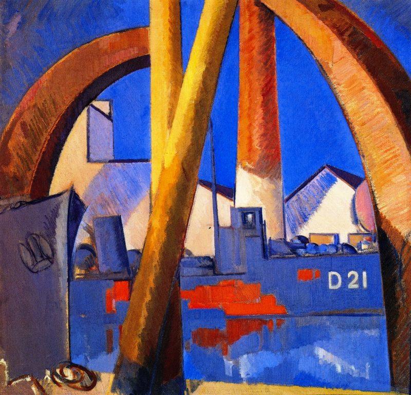 Damaged Destroyer | John Duncan Fergusson | oil painting
