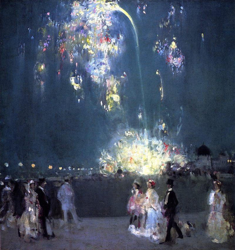 Dieppe 14 July 1905 Night 1905 | John Duncan Fergusson | oil painting