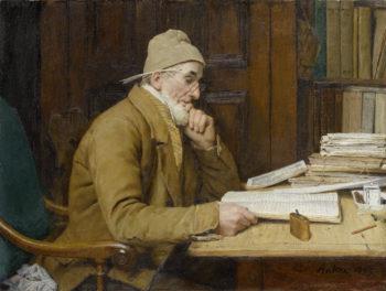 Der Schaffner | Albert Anker | oil painting