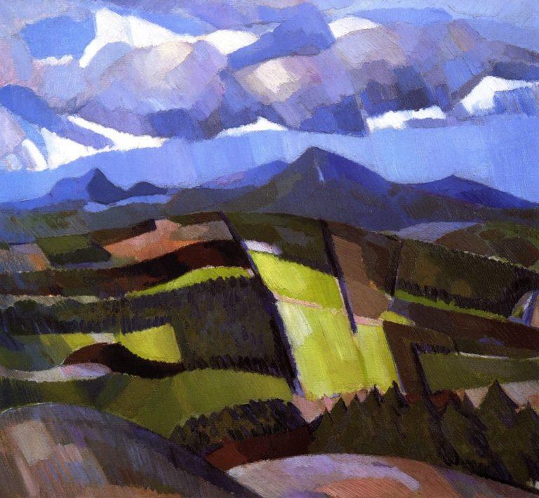 In Glen Isla   John Duncan Fergusson   oil painting