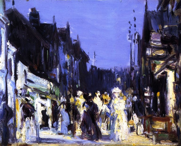 In Paris Plage Night | John Duncan Fergusson | oil painting