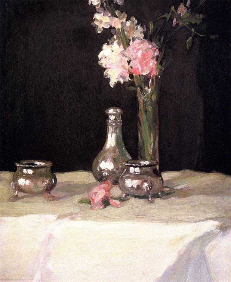 Jonquils and Silver | John Duncan Fergusson | oil painting