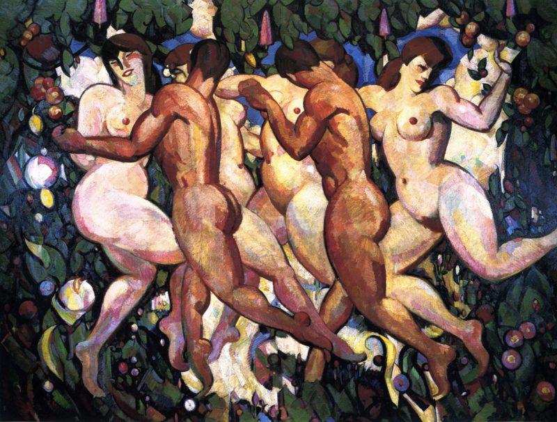 Les Eus   John Duncan Fergusson   oil painting