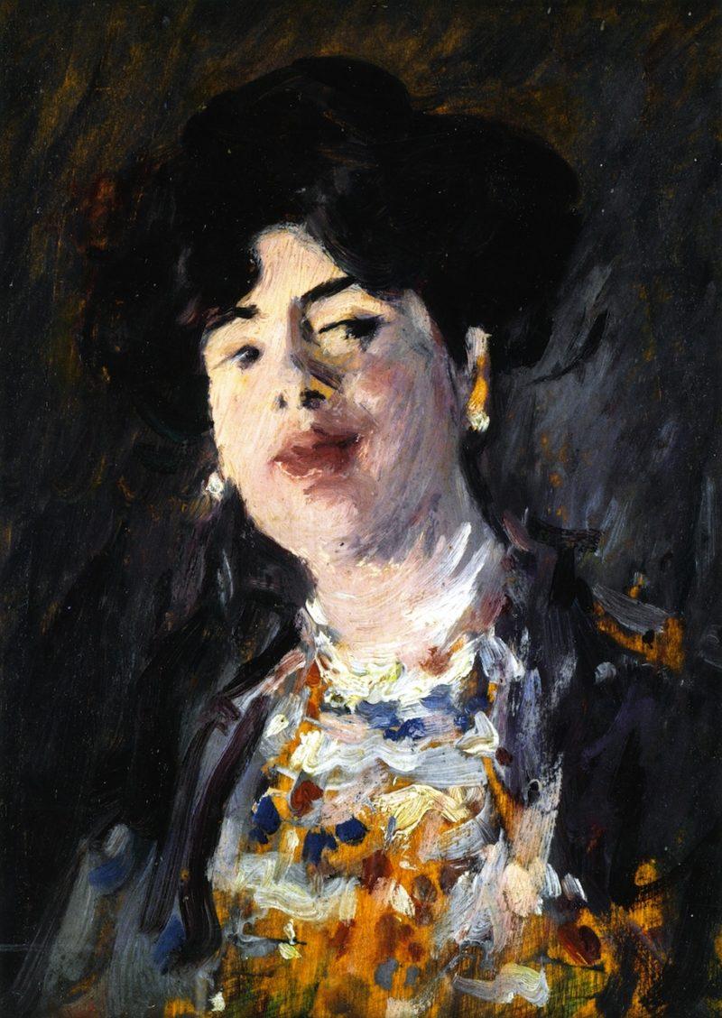 Near the Gaslight | John Duncan Fergusson | oil painting