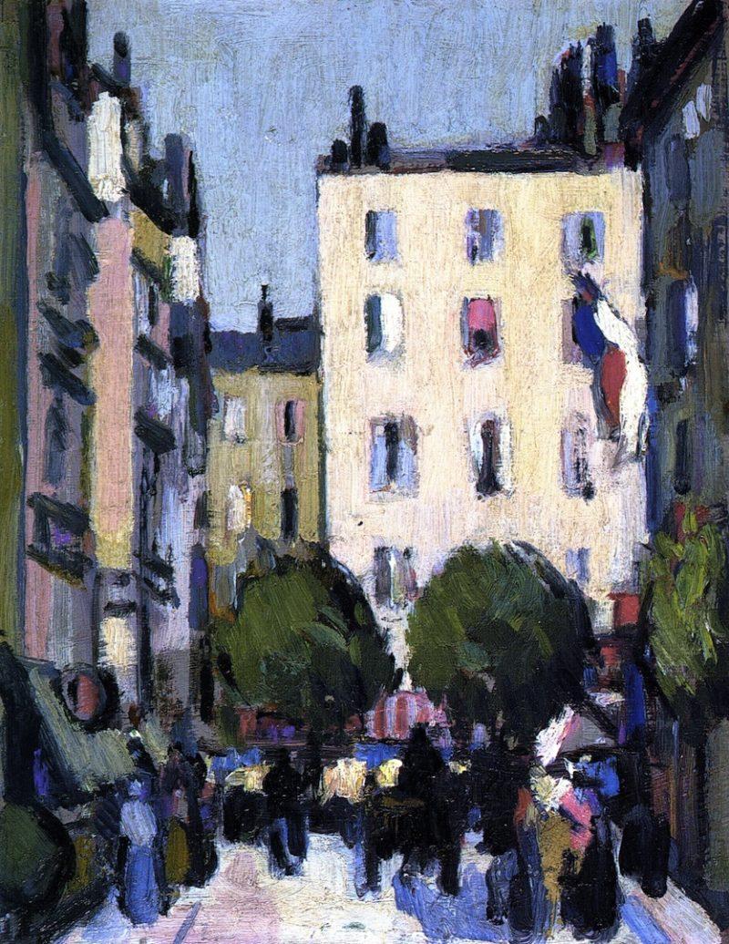 Paris | John Duncan Fergusson | oil painting