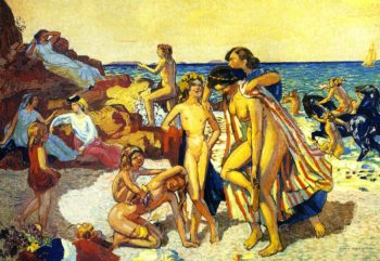Bacchus and Ariadne | Maurice Denis | oil painting