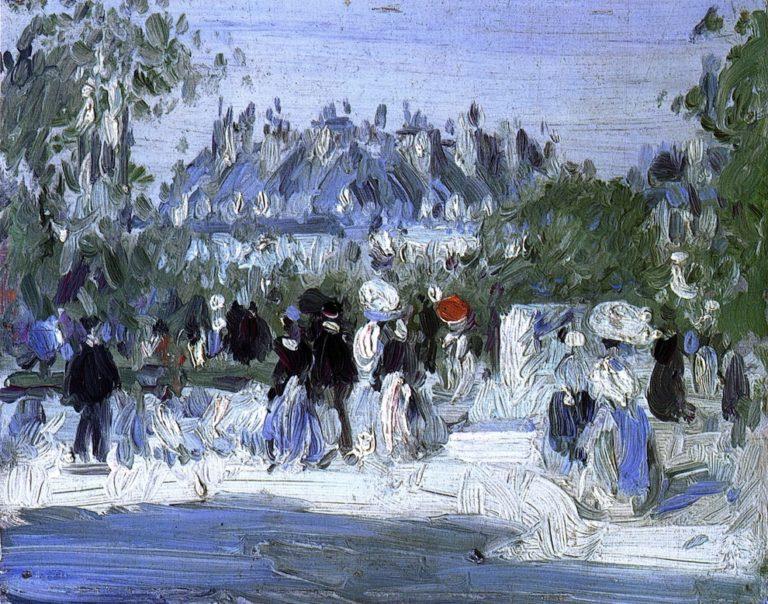 Pont des Arts Paris | John Duncan Fergusson | oil painting
