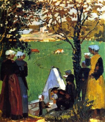 Sacred Spring in Guidel | Maurice Denis | oil painting