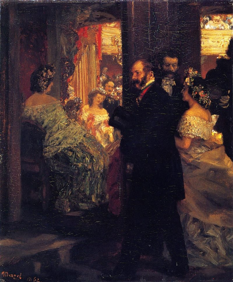 At the Opera | Adolph von Menzel | oil painting